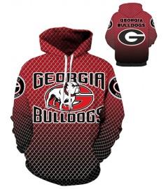 DQYDM289 3D Digital Printed American University Georgia Bulldogs Team Sport Hoodie Unisex Fit Style Hoodie With Hat