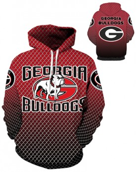 DQYDM289 3D Digital Printed American University Georgia Bulldogs Team Sport Hoodie Unisex Fit Style Hoodie With Hat