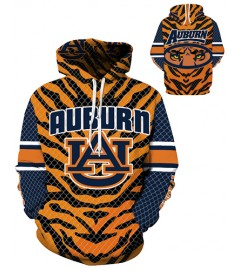 DQYDM290 3D Digital Printed American University Auburn Tigers Team Sport Hoodie Unisex Fit Style Hoodie With Hat