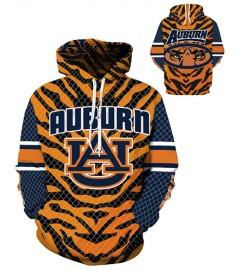 DQYDM290 3D Digital Printed American University Auburn Tigers Team Sport Hoodie Unisex Fit Style Hoodie With Hat