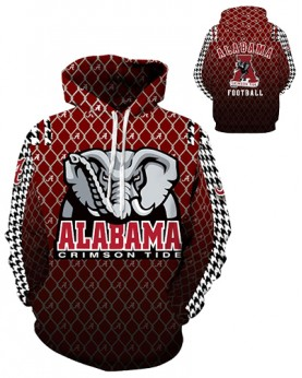 DQYDM312 3D Digital Printed American University Alabama Crimson Tides Football Team Sport Hoodie Unisex Hoodie With Hat