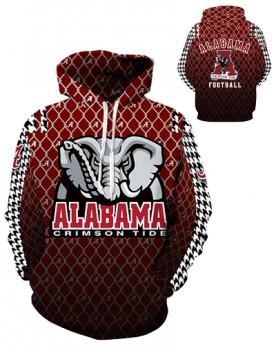 DQYDM312 3D Digital Printed American University Alabama Crimson Tides Football Team Sport Hoodie Unisex Hoodie With Hat