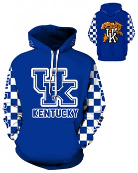 DQYDM316 3D Digital Printed American University Kentucky Wildcats Football Team Sport Hoodie Unisex Hoodie With Hat