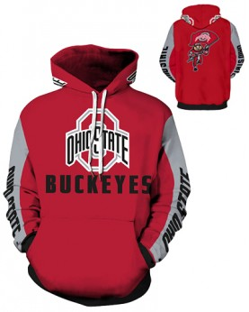 DQYDM328 3D Digital Printed American University Ohio State Buckeyes Football Team Sport Hoodie Unisex Hoodie With Hat