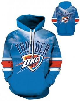 DQYDM332 3D Digital Printed NBA Oklahoma City Thunders Basketball Team Sport Hoodie Unisex Hoodie With Hat