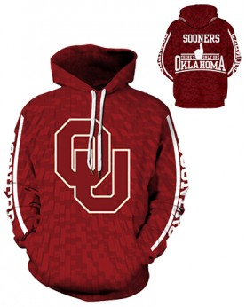 DQYDM334 3D Digital Printed American University Oklahoma Sooners Football Team Sport Hoodie Unisex Hoodie With Hat