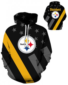 DQYDM342 3D Digital Printed NFL Pittsburgh Steelers Football Team Sport Hoodie Unisex Fit Style Hoodie With Hat