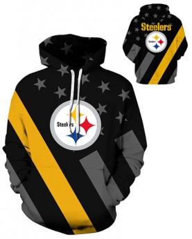 DQYDM342 3D Digital Printed NFL Pittsburgh Steelers Football Team Sport Hoodie Unisex Fit Style Hoodie With Hat