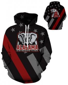 DQYDM343 3D Digital Printed American University Alabama Crimson Tides Football Team Sport Hoodie Unisex Hoodie With Hat