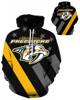 DQYDM349 3D Digital Printed NHL Nashville Predators Hockey Team Sport Hoodie Unisex Hoodie With Hat
