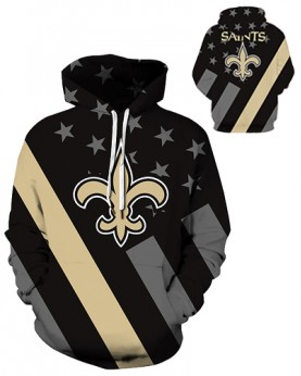 DQYDM430 3D Digital Printed NFL New Orleans Saints Football Team Sport Hoodie Unisex Hoodie With Hat