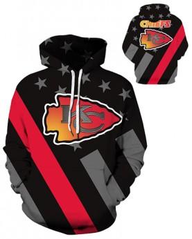 DQYDM431 3D Digital Printed NFL Kansas City Chiefs Football Team Sport Hoodie Unisex Hoodie With Hat