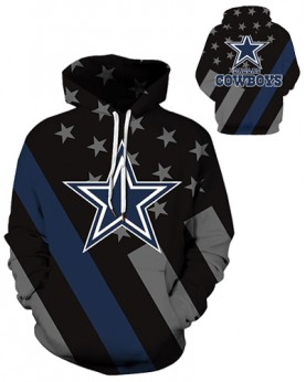 DQYDM432 3D Digital Printed NFL Dallas Cowboys Football Team Sport Hoodie Unisex Hoodie With Hat