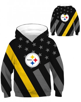 DBHB001 Kids 3D Digital Printed NFL Pittsburgh Steelers Football Team Sport Hoodie With Hat
