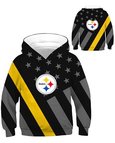 de7c51a1 DBHB001 Kids 3D Digital Printed NFL Pittsburgh Steelers Football ...