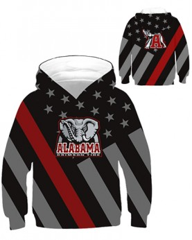 DBHB002 Kids 3D Digital Printed American University Alabama Crimson Tides Football Team Sport Hoodie With Hat