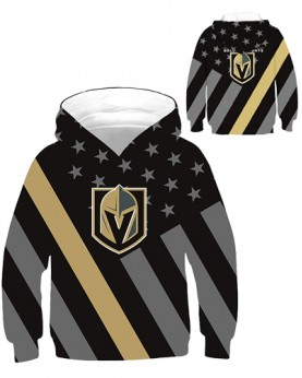DBHB003 Kids 3D Digital Printed NHL Las Vegas Golden Knights Hockey Team Sport Hoodie With Hat