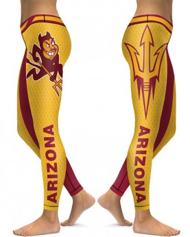 DBAQ074 High Waist American University Arizona State Sun Devils 4Needle 6Thread Stitcking College Team Sports Leggings