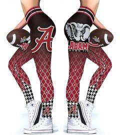 DBAQ118 High Waist American University Alabama Crimson Tide 4Needle 6Thread Stitcking College Team Sports Leggings