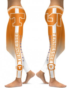 DBAQ509 High Waist American University Tennessee Volunteers 4Needle 6Thread Stitcking College Team Sports Leggings