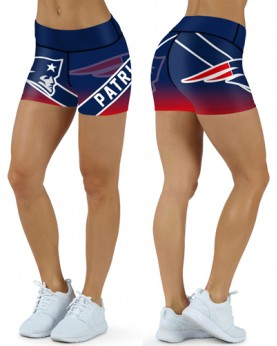 DBDQ007 High Waist NFL New England Patriots Football Team 4Needle 6Thread Stitcking Sports Shorts