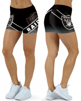 DBDQ014 High Waist NFL Oakland Raiders Football Team 4Needle 6Thread Stitcking Sports Shorts
