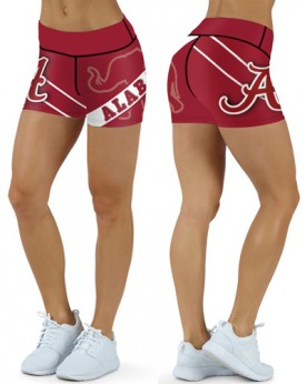 DBDQ015 High Waist College Alabama Crimson Tide Football Team 4Needle 6Thread Stitcking Sports Shorts