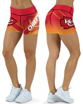 DBDQ020 High Waist NFL Kansas City Chiefs Football Team 4Needle 6Thread Stitcking Sports Shorts