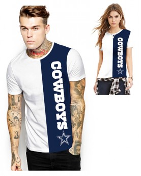 DNA361 High Quality NFL Dallas Cowboys Football Team Sports Round-Neck Unisex Tshirt