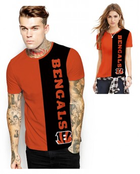 DNA362 High Quality NFL Cincinnati Bengals Football Team Sports Round-Neck Unisex Tshirt