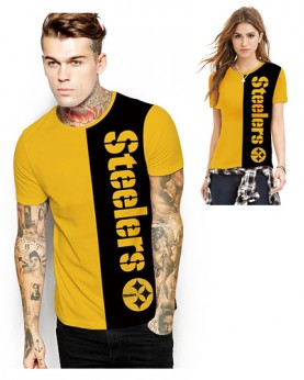 DNA363 High Quality NFL Pittsburgh Steelers Football Team Sports Round-Neck Unisex Tshirt