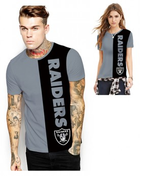 DNA364 High Quality NFL Oakland Raiders Football Team Sports Round-Neck Unisex Tshirt