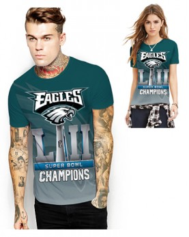 DNA365 High Quality NFL Philadelphia Eagles Champions Football Team Sports Round-Neck Unisex Tshirt