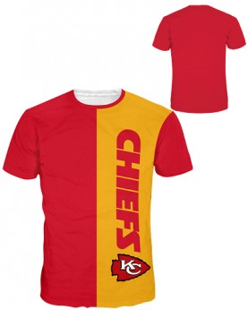 DNA366 Pre-Order High Quality NFL Kansas City Chiefs Football Team Sports Round-Neck Unisex Tshirt
