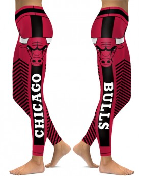 DBAQ536 High Waist NBA Chicago Bulls Basketball Team 4Needle 6Thread Stitcking Sports Leggings