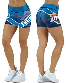DBDQ023 High Waist NBA Oklahoma City Thunders Basketball Team 4Needle 6Thread Stitcking Sports Shorts