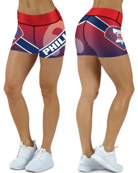 DBDQ024 High Waist MLB Philadelphia Phillies Baseball Team 4Needle 6Thread Stitcking Sports Shorts