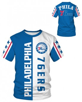 DBIW002 Pre-Order High Quality NBA Philadelphia 76ers Basketball Team Sports Round-Neck Unisex Tshirt