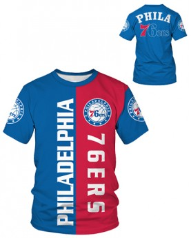 DBIW003 Pre-Order High Quality NBA Philadelphia 76ers Basketball Team Sports Round-Neck Unisex Tshirt