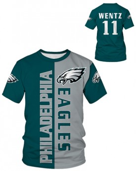 DBIW004 Pre-Order High Quality NFL Philadelphia Eagles Football Team Sports Round-Neck Unisex Tshirt