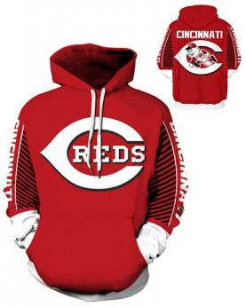 DQYDM435 3D Digital Printed MLB Cincinnati Reds Baseball Team Sport Hoodie Unisex Hoodie With Hat