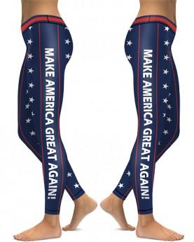 DBAQ538 High Waist Make America Great Again 4Needle 6Thread Stitcking Sports Leggings