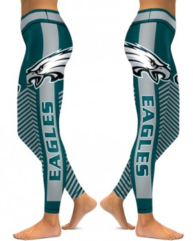 DBAQ546 High Waist NFL Philadelphia Eagles Football Team 4Needle 6Thread Stitcking Sports Leggings