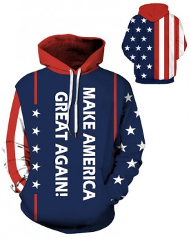 DQYDM436 3D Digital Printed Make America Great Again Sport Hoodie Unisex Hoodie With Hat