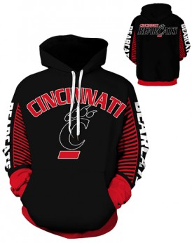 DQYDM437 3D Digital Printed American University Cincinnati Bearcats Football Team Sport Hoodie Unisex Hoodie With Hat