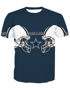 LNTX11203 3D Digital Printed NFL Dallas Cowboys Football Team Sport Unisex T-shirt