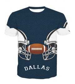 LNTX11204 3D Digital Printed NFL Dallas Cowboys Football Team Sport Unisex T-shirt