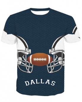 LNTX11204 3D Digital Printed NFL Dallas Cowboys Football Team Sport Unisex T-shirt