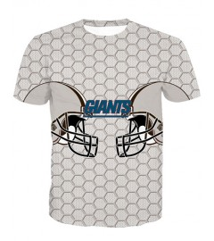 LNTX11205 3D Digital Printed NFL New York Giants Football Team Sport Unisex T-shirt