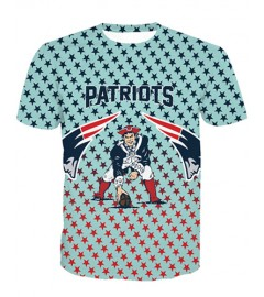 LNTX11206 3D Digital Printed NFL New England Patriots Football Team Sport Unisex T-shirt
